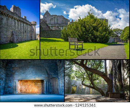 Medieval castle in sunny Scotland - stock photo