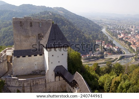 Medieval castle of Celje, Slovenia - stock photo