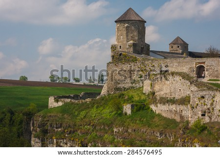 Medieval castle of Kamianets-Podilskyi, Ukraine