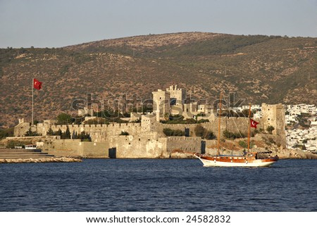 Medieval Castle of Saint Peter, Bodrum, Mugla, Turkey - stock photo