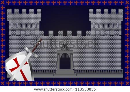 medieval castle. raster variant - stock photo