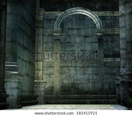 Medieval Chamber Background - stock photo