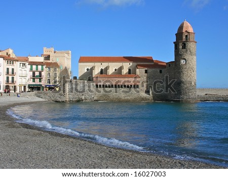 Medieval Church in Collioure, France