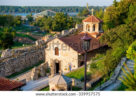 Medieval Church of St Petka at Kalemegdan fortress. Belgrade (Beograd), Serbia - stock photo