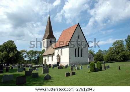 Medieval church on the island of Gotland, Sweden