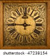 Medieval clock face - stock photo