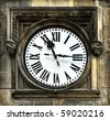 Medieval clock in Prague - stock photo