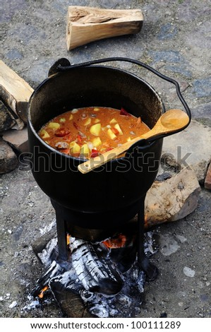 medieval cooking - stock photo