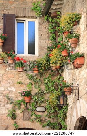 Medieval corner - stock photo