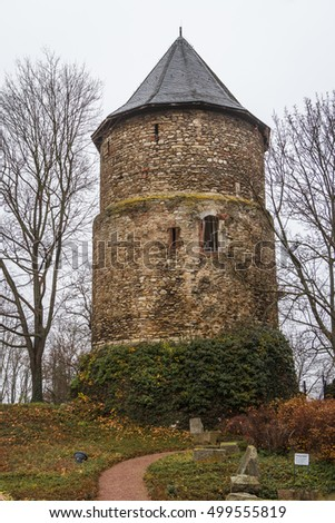 Medieval defence tower in Mainz, Germany