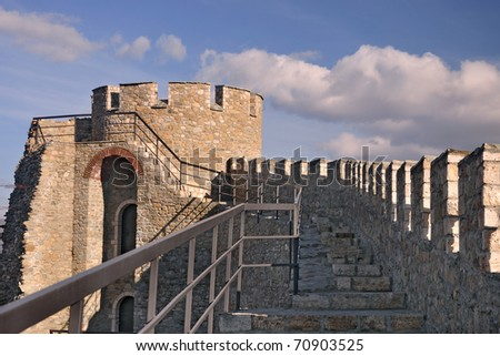 Medieval Fortress also known as Kale near Skopje - stock photo