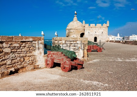 Medieval fortress of Castelo Real of Mogador. Essaouira, Morocco - stock photo