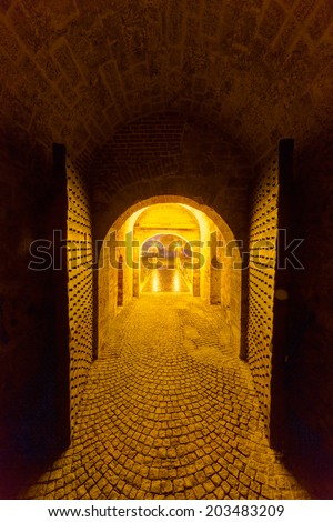 medieval gate at belgrade fortress, belgrade, serbia - stock photo