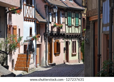 Medieval houses in Alsace, France 7