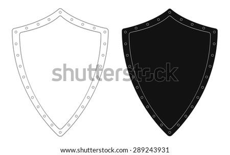Medieval Knight Logo Helmet Armor Mace Stock Vector 243276691 ...
