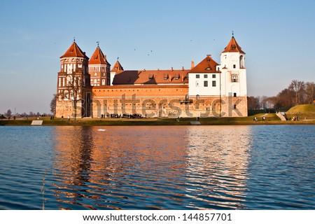 Medieval Mir castle - stock photo