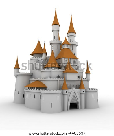 Medieval palace (image can be used for printing or web) - stock photo