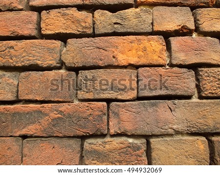 medieval red brick decorative masonry texture