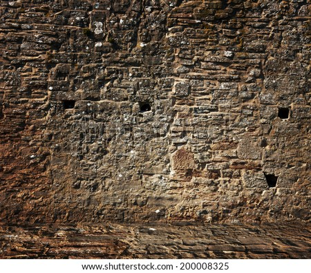 Medieval Stone Wall - stock photo