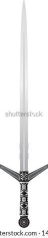 medieval sword. raster variant - stock photo