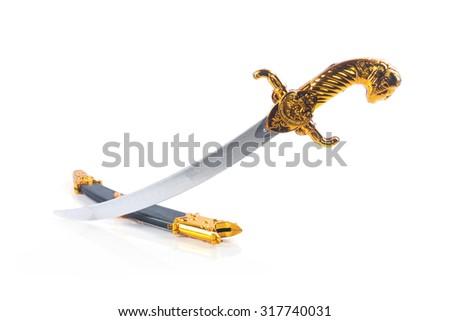 Medieval sword toy - stock photo