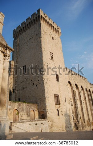 Medieval tower in Avignon