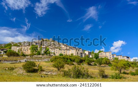 Medieval Village from the south of France, Provence - stock photo