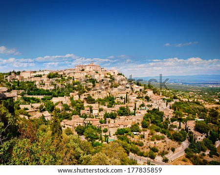 Medieval village Gordes in Vaucluse, French Provence  - stock photo
