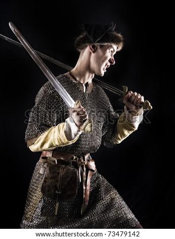 Medieval Warrior - stock photo