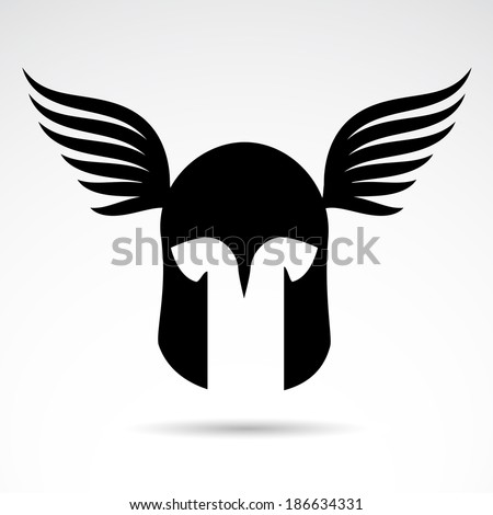 Medieval warrior helmet icon isolated on white background. - stock photo