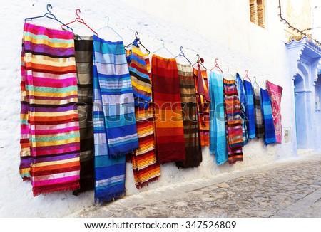 Medina of Chefchaouen, Morocco - stock photo
