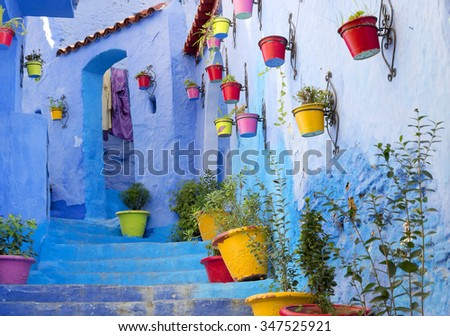 Medina of Chefchaouen, Morocco, Africa - stock photo