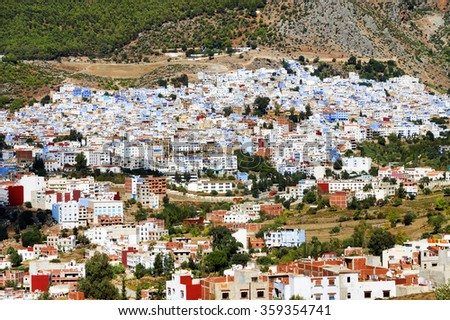 Medina of Chefchaouen, Morocco, Africa - stock photo