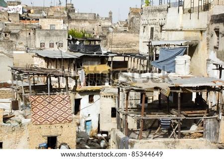 medina of Fes, Morocco - stock photo