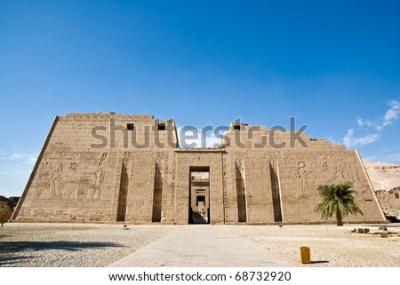 Medinet Habu Temple,Egypt,Luxor - The main temple is the great memorial temple of Ramesses III