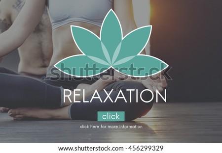 Meditation Balance Yoga Zen Serenity Relaxation Concept - stock photo