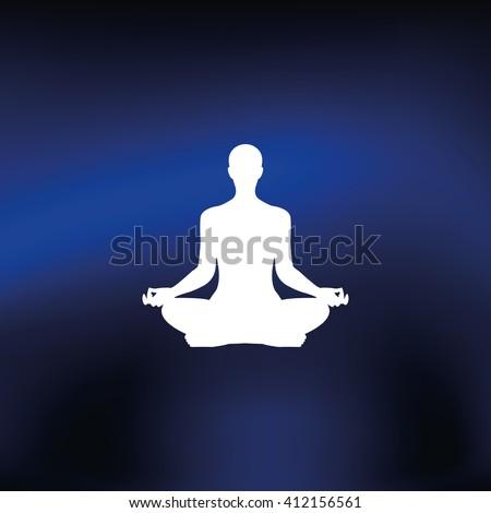 Meditation icon. - stock photo