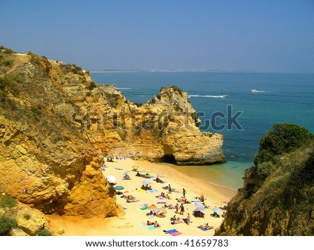 Mediterranean beach - stock photo