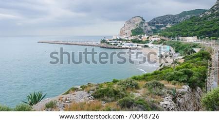 Mediterranean coast, Barcelona, Spain - stock photo