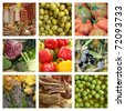 Mediterranean diet collage, Italy - stock photo