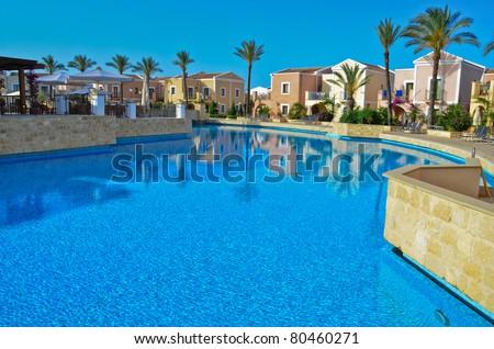 Mediterranean holiday resort - stock photo