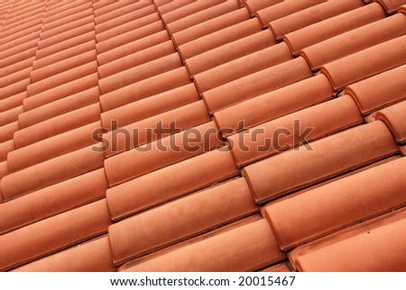 Mediterranean house roof style - stock photo