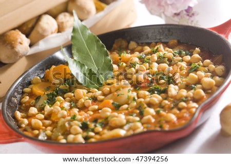 Mediterranean minestrone - stock photo