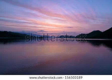 mediterranean, panoramic view - stock photo