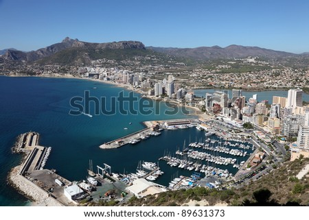 Mediterranean Resort Calpe, Costa-Blanca Spain - stock photo