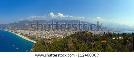 Mediterranean Sea, Alanya, Turkey - stock photo