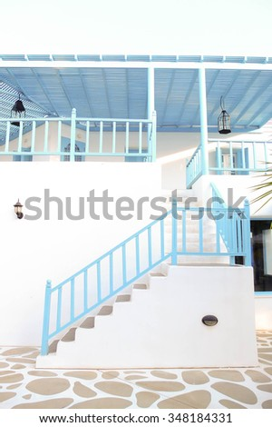 Mediterranean style decoration - stock photo