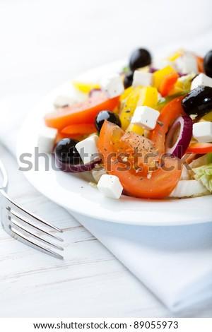 Mediterranean-style salad - stock photo
