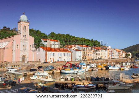 Mediterranean town of Port-Vendres, France - stock photo