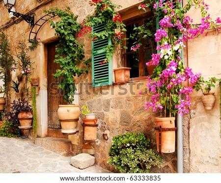 mediterranean village - stock photo